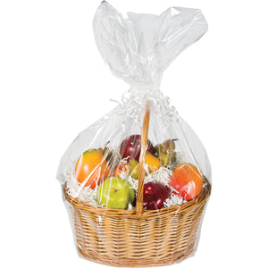 Large Cello Basket Bags Clear with Twist Tie