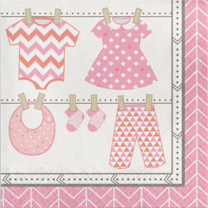 Bundle of Joy Girl Lunch Napkins