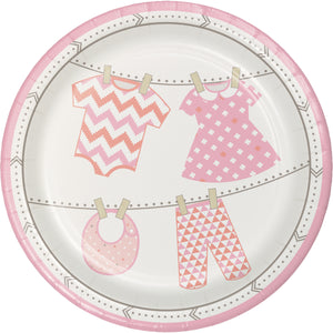 Bundle of Joy Paper Girl Lunch Plates