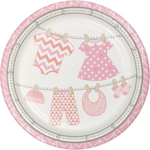 Bundle of Joy Girl Paper Dinner Plates