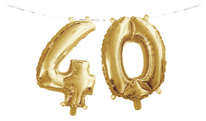 "Number ""40"" Balloon Banner with Ribbon"