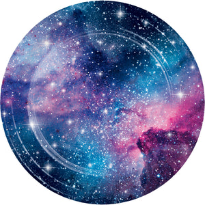 Galaxy Party Dinner Plates Sturdy Style