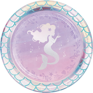 Mermaid Shine Lunch Plates Iridescent Foil
