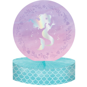 Mermaid Shine Honeycomb Centrepiece Iridescent Foil