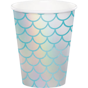 Mermaid Shine Paper Cups Iridescent Foil
