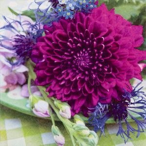 Tiflair Dahlia and Cornflower Lunch Napkins 3 ply