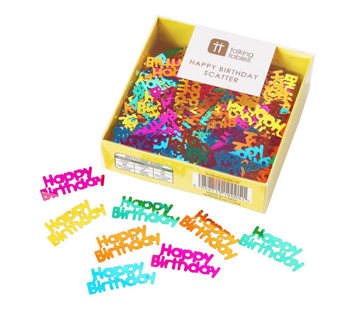 Birthday Brights Rainbow Happy Birthday Table Scatter