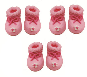 Bootees Sugarcraft Toppers Pink