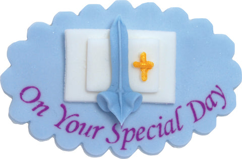 On Your Special Day Sugarcraft Plaque Blue