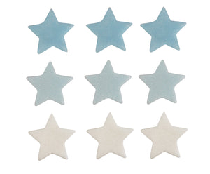 Stars Sugarcraft Toppers Blue, Light Blue & White