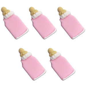Baby's Bottle Sugarcraft Toppers Pink