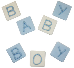 Baby Boy Blocks Sugarcraft Toppers