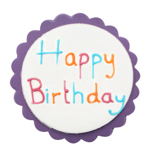 Bright & Bold Happy Birthday Sugarcraft Plaque