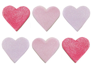 Shimmer Heart Sugarcraft Toppers