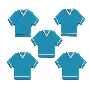 Football Shirt Sugarcraft Toppers Blue