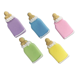 Pastel Mix Baby's Bottles Sugarcraft Toppers