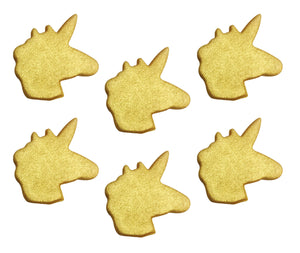 Shimmering Gold Unicorn Sugarcraft Toppers