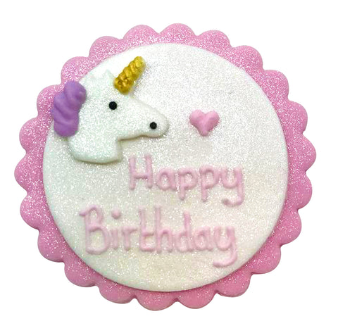 Unicorn Sugarcraft Plaque