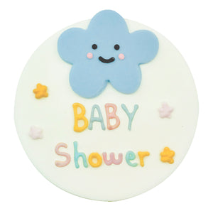 Happy Clouds Baby Shower Sugarcraft Plaque
