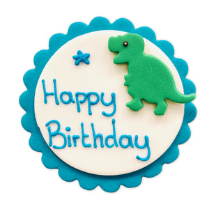 Dinosaur Happy Birthday Sugarcraft Plaque