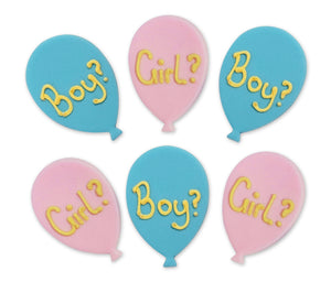 Gender Reveal Balloons Sugarcraft Toppers