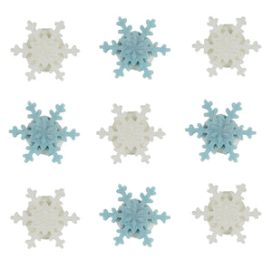 Shimmering Mini Snowflake Toppers - 9 Pack