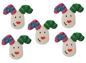 The Snowdog and The Snowman Toppers - 5 Pack