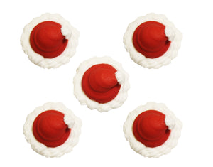 Santa Hat Toppers - 5 Pack