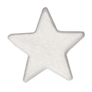 Silver Lustre Stars Edible Cake Toppers - 50 Toppers