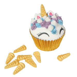 Gold Unicorn Horn Sugar Decoration - 30mm - 20 Pack