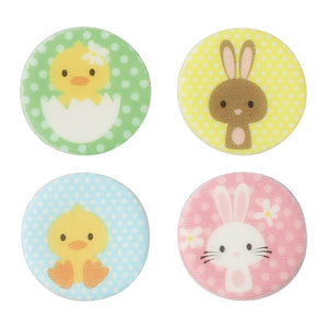 Easter Bunny & Chick Cupcake Toppers - 20 Pack