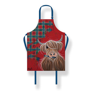 McMoos Tartan Paint Cotton Apron