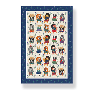 Cats N' Kilts Tea Towel