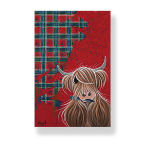 McMoos Tartan Paint Tea Towel