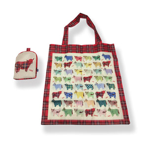 Highland Cow Folding Bag In Pouch