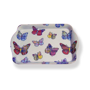 Tartan Butterflies Mini Serving Tray