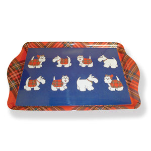 Tartan Terrier Medium Serving Tray