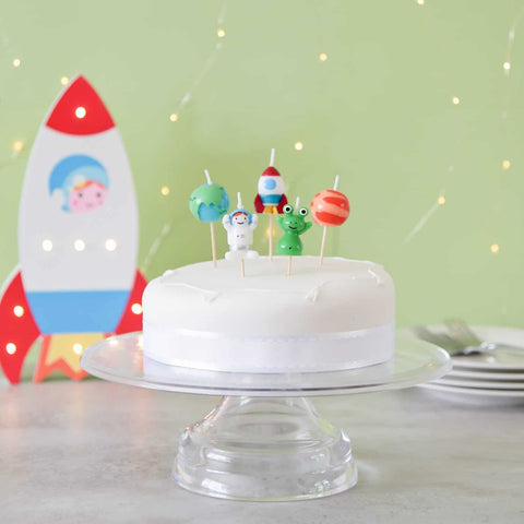 Space Theme Candle Set - 5 Pack