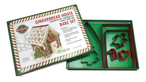 Gingerbread House Cookie Cutter Bake Set Poly-Resin Coated