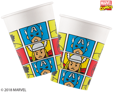 Marvel Pop Comic Party Paper Cups