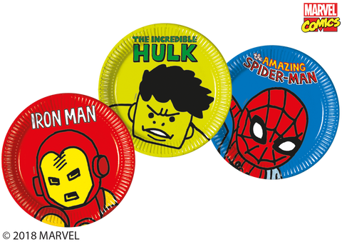 Marvel Pop Comic Party Paper Plates