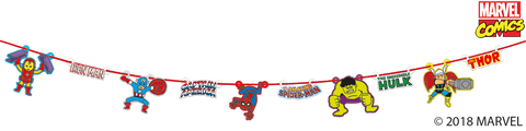 Marvel Pop Comic Party Paper Garland Bunting - 2m