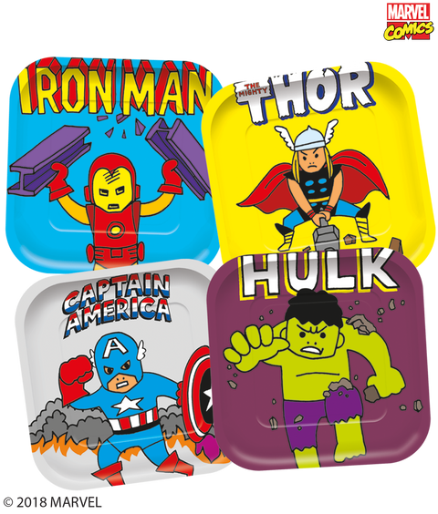 Marvel Pop Comic Party  Large Square Plates