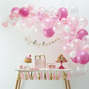 Pink Balloon Arch Kit - Balloon Arches Range by Ginger Ray