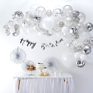 Silver Balloon Arch Kit - Balloon Arches Range by Ginger Ray