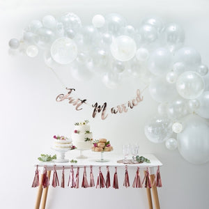 White Balloon Arch Kit - Balloon Arches Range by Ginger Ray
