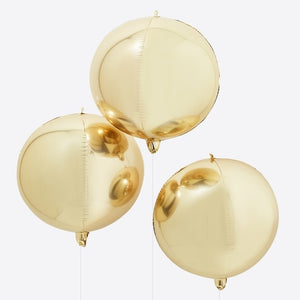Gold Foil Orb Balloons - Balloon Arches Range by Ginger Ray