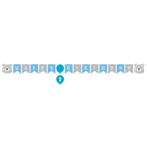 Birthday Bear Banner with Stickers