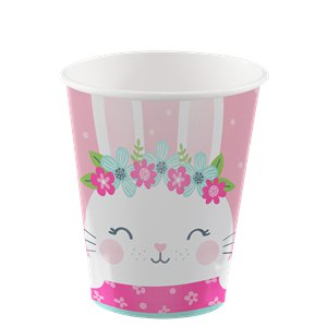 Birthday Bunny Paper Cups  - 8 Pk