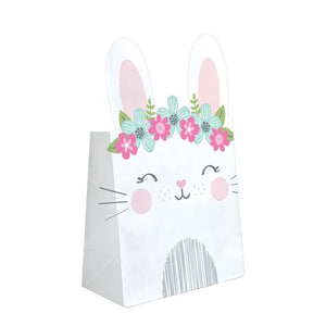Birthday Bunny Paper Treat Bags  - 8 Pk